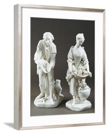 Pair of Gardeners, Bisque Porcelain, Sevres Manufacture, Ile-De-France--Framed Giclee Print