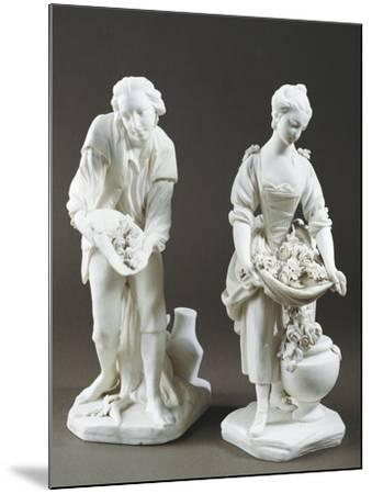 Pair of Gardeners, Bisque Porcelain, Sevres Manufacture, Ile-De-France--Mounted Giclee Print