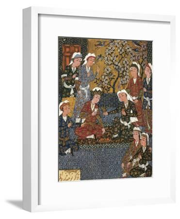 Safavid Persian Prince at Court, Miniature from a Persian Manuscript, 1650--Framed Giclee Print
