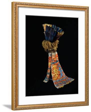 Feathered Fabric Headdress, from Peru, Chimu Culture--Framed Giclee Print
