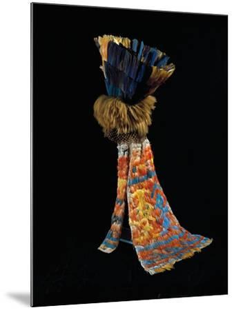 Feathered Fabric Headdress, from Peru, Chimu Culture--Mounted Giclee Print