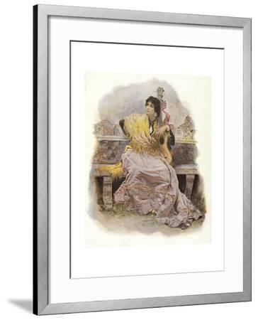 Woman with Guitar, 1904--Framed Giclee Print