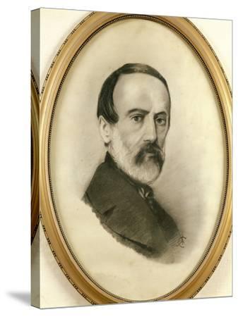 Portrait of Giuseppe Mazzini, 1805 - 1872--Stretched Canvas Print