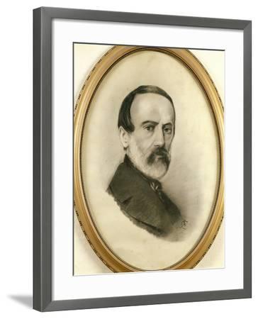 Portrait of Giuseppe Mazzini, 1805 - 1872--Framed Giclee Print