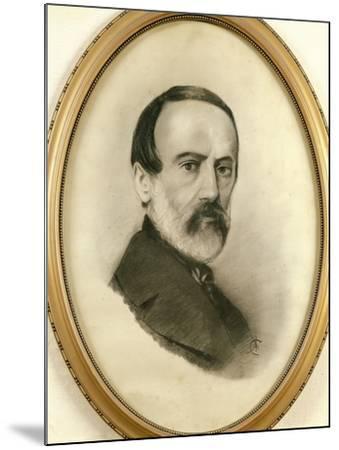Portrait of Giuseppe Mazzini, 1805 - 1872--Mounted Giclee Print