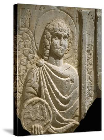 Relief Depicting Archangel Gabriel, Early Christian Period, 6th Century--Stretched Canvas Print