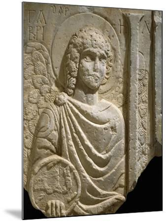 Relief Depicting Archangel Gabriel, Early Christian Period, 6th Century--Mounted Giclee Print