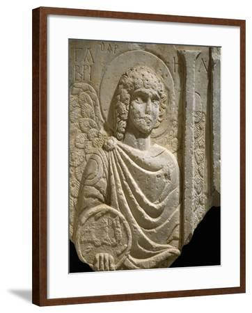 Relief Depicting Archangel Gabriel, Early Christian Period, 6th Century--Framed Giclee Print