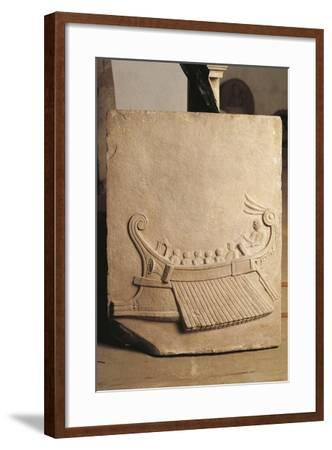 Italy, Campania, Pozzuoli, Relief Representing a Ship--Framed Giclee Print