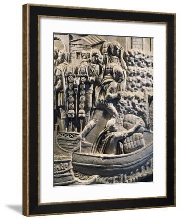 Detail from the Cast from Trajan's Column--Framed Giclee Print