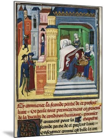 The Birth, Miniature from Jean De Gerson's Devotions, 1462, Manuscript--Mounted Giclee Print