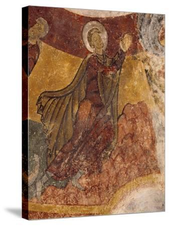 Fresco in Crypt of Church in Saint-Aignan-Sur-Cher, France, 12th Century--Stretched Canvas Print