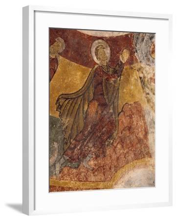 Fresco in Crypt of Church in Saint-Aignan-Sur-Cher, France, 12th Century--Framed Giclee Print