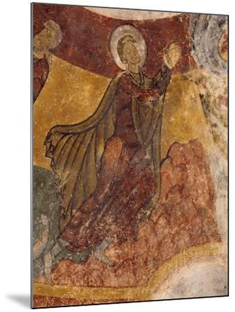 Fresco in Crypt of Church in Saint-Aignan-Sur-Cher, France, 12th Century--Mounted Giclee Print