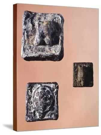 Weights from 841.5 Grams, 231 Grams and 127.5 Grams, from the Agora' of Athens, Greece--Stretched Canvas Print