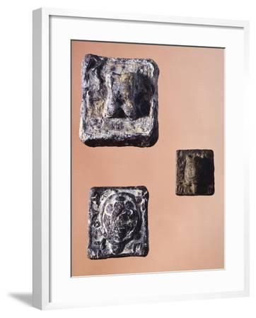 Weights from 841.5 Grams, 231 Grams and 127.5 Grams, from the Agora' of Athens, Greece--Framed Giclee Print