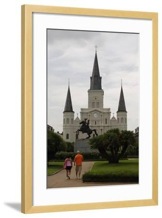 USA, New Orleans, Cathedral-Basilica of Saint Louis, King of France--Framed Giclee Print