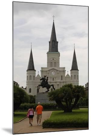 USA, New Orleans, Cathedral-Basilica of Saint Louis, King of France--Mounted Giclee Print