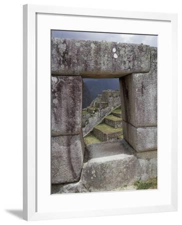Peru, Urubamba Valley, Machu Picchu--Framed Giclee Print