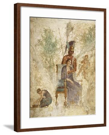 Fresco Depicting Mars and Venus with Love, Pompeii, Campania--Framed Giclee Print