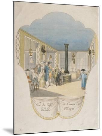 Cafe Interior at Palais Royal in Paris--Mounted Giclee Print