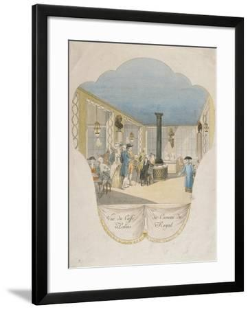 Cafe Interior at Palais Royal in Paris--Framed Giclee Print