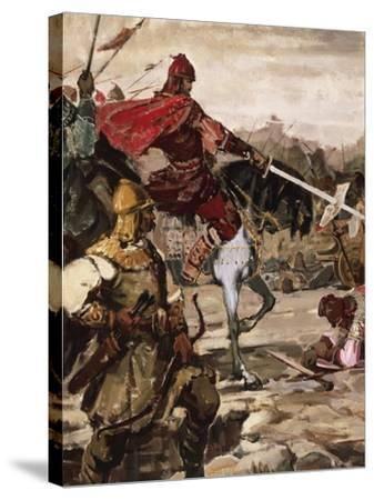 Battle of Klokotnitsa March 9, 1230 Which Saw Tsar Ivan Asen II Defeat Theodore of Epirus--Stretched Canvas Print