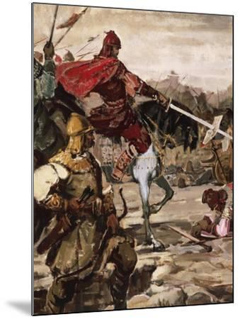 Battle of Klokotnitsa March 9, 1230 Which Saw Tsar Ivan Asen II Defeat Theodore of Epirus--Mounted Giclee Print