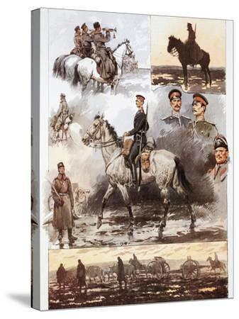 Campaign in Thrace, Bulgarian Army, Cavalry and Artillery, March 1913, First Balkan War--Stretched Canvas Print
