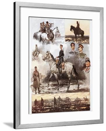 Campaign in Thrace, Bulgarian Army, Cavalry and Artillery, March 1913, First Balkan War--Framed Giclee Print