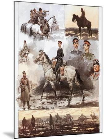 Campaign in Thrace, Bulgarian Army, Cavalry and Artillery, March 1913, First Balkan War--Mounted Giclee Print