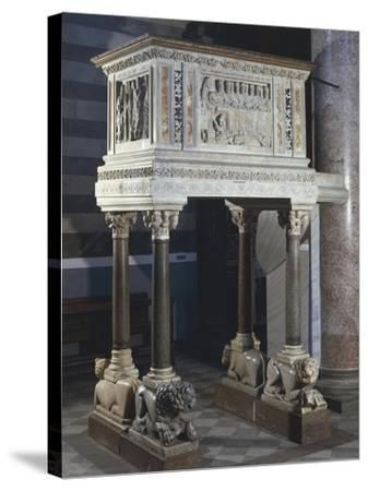 Pulpit, Cathedral of the Assumption Blessed Virgin, Volterra, Tuscany, Italy, 12th-16th Century--Stretched Canvas Print