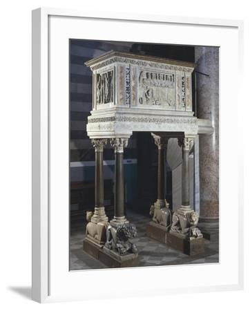 Pulpit, Cathedral of the Assumption Blessed Virgin, Volterra, Tuscany, Italy, 12th-16th Century--Framed Giclee Print