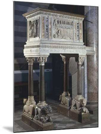 Pulpit, Cathedral of the Assumption Blessed Virgin, Volterra, Tuscany, Italy, 12th-16th Century--Mounted Giclee Print