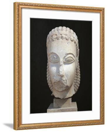 Athens, Dipylon, Head of Kouros--Framed Giclee Print