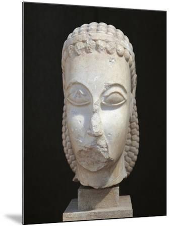 Athens, Dipylon, Head of Kouros--Mounted Giclee Print