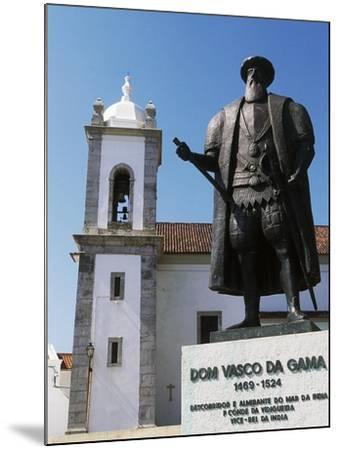 Statue of Vasco Da Gama, Sines, Setubal, Portugal--Mounted Giclee Print