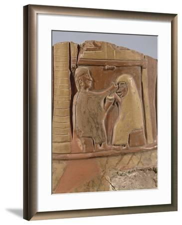 Turkey, Bitik, Fragment Painted Pottery Depicting a Mystic Marriage--Framed Giclee Print