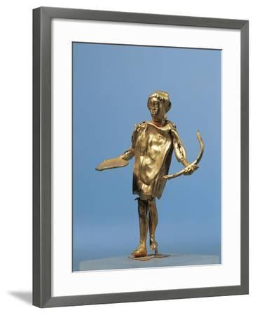 Italy, Calabria, Punta Alice, Statuette Representing Apollo Holding a Gold Bow Used for Worshipping--Framed Giclee Print