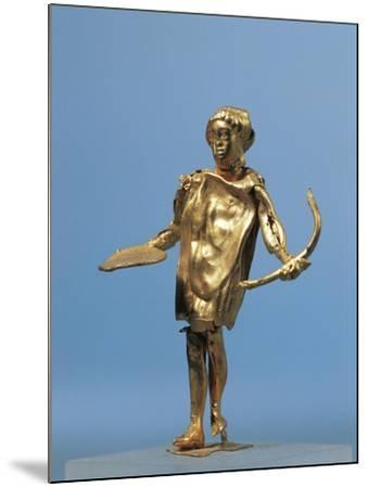 Italy, Calabria, Punta Alice, Statuette Representing Apollo Holding a Gold Bow Used for Worshipping--Mounted Giclee Print