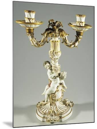Candlestick with Putti, Porcelain--Mounted Giclee Print