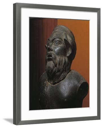 Bronze Statue of Silenus Marsyas--Framed Giclee Print
