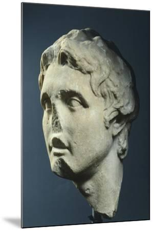 Head of Alexander, Copy from Augustan Age in Pentelic Marble from Hellenistic Original AD--Mounted Giclee Print