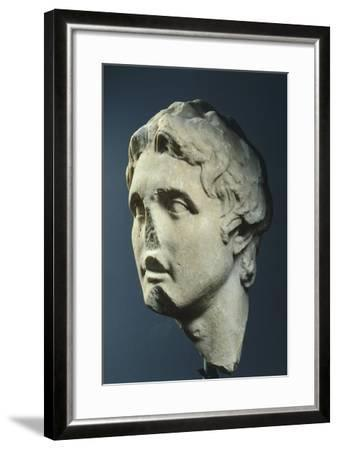 Head of Alexander, Copy from Augustan Age in Pentelic Marble from Hellenistic Original AD--Framed Giclee Print