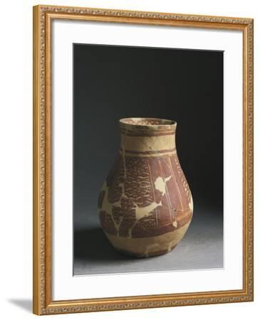 Iraq, Tell Hassan Site, Baked Clay Hip-Flask, End of the Halaf Period--Framed Giclee Print