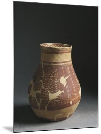 Iraq, Tell Hassan Site, Baked Clay Hip-Flask, End of the Halaf Period--Mounted Giclee Print