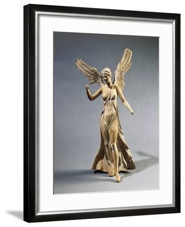 Terracotta Statuette of Victory, from Myrina--Framed Giclee Print