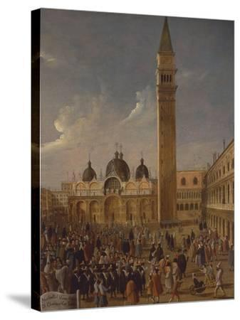 Italy, Veneto, Venice, Carnival on San Marco Square, Close-Up--Stretched Canvas Print