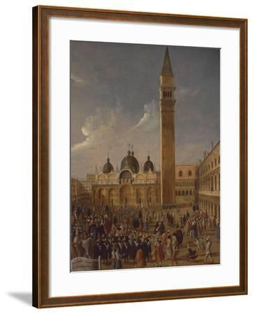 Italy, Veneto, Venice, Carnival on San Marco Square, Close-Up--Framed Giclee Print