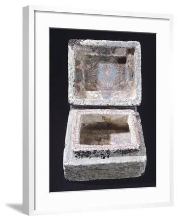 Painted Stone Casket for Offerings from Mexico--Framed Giclee Print